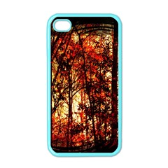 Forest Trees Abstract Apple iPhone 4 Case (Color)