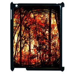 Forest Trees Abstract Apple iPad 2 Case (Black)