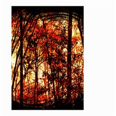Forest Trees Abstract Small Garden Flag (Two Sides)