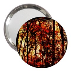 Forest Trees Abstract 3  Handbag Mirrors