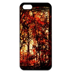 Forest Trees Abstract Apple Iphone 5 Seamless Case (black)