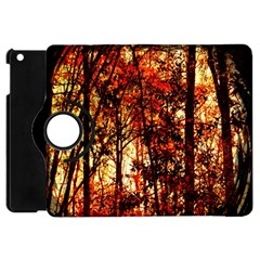 Forest Trees Abstract Apple iPad Mini Flip 360 Case