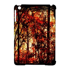 Forest Trees Abstract Apple iPad Mini Hardshell Case (Compatible with Smart Cover)