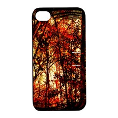 Forest Trees Abstract Apple iPhone 4/4S Hardshell Case with Stand