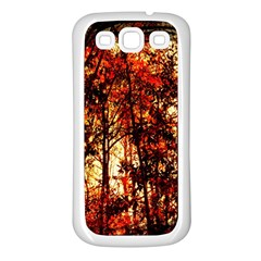 Forest Trees Abstract Samsung Galaxy S3 Back Case (White)