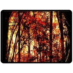Forest Trees Abstract Double Sided Fleece Blanket (Large)