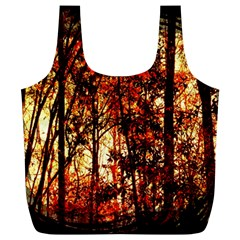 Forest Trees Abstract Full Print Recycle Bags (L)