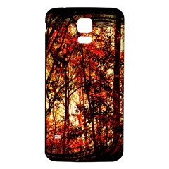 Forest Trees Abstract Samsung Galaxy S5 Back Case (white)