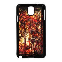 Forest Trees Abstract Samsung Galaxy Note 3 Neo Hardshell Case (Black)