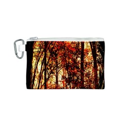 Forest Trees Abstract Canvas Cosmetic Bag (s)