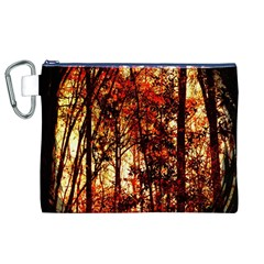 Forest Trees Abstract Canvas Cosmetic Bag (xl)