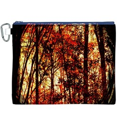 Forest Trees Abstract Canvas Cosmetic Bag (XXXL)