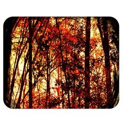 Forest Trees Abstract Double Sided Flano Blanket (Medium)