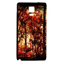 Forest Trees Abstract Galaxy Note 4 Back Case