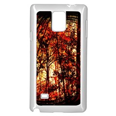 Forest Trees Abstract Samsung Galaxy Note 4 Case (white)