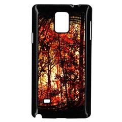 Forest Trees Abstract Samsung Galaxy Note 4 Case (Black)