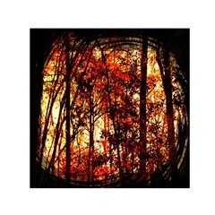 Forest Trees Abstract Small Satin Scarf (Square)