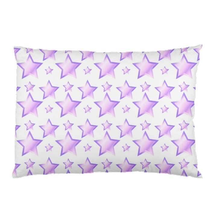Lilac Stars Pillow Case (Two Sides)