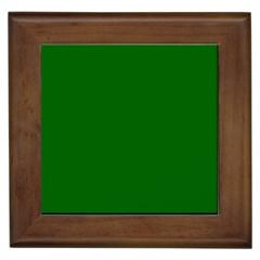 Dark Plain Green Framed Tiles