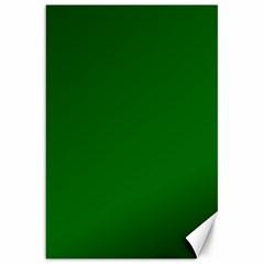 Dark Plain Green Canvas 20  x 30