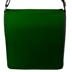 Dark Plain Green Flap Messenger Bag (S)
