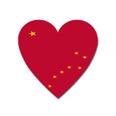 Alaska Star Red Yellow Heart Magnet