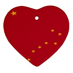 Alaska Star Red Yellow Heart Ornament (Two Sides)