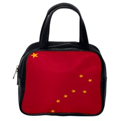 Alaska Star Red Yellow Classic Handbags (one Side)