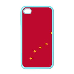 Alaska Star Red Yellow Apple iPhone 4 Case (Color)