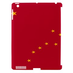 Alaska Star Red Yellow Apple iPad 3/4 Hardshell Case (Compatible with Smart Cover)