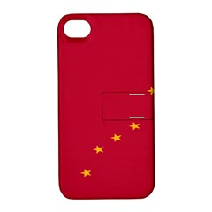 Alaska Star Red Yellow Apple iPhone 4/4S Hardshell Case with Stand