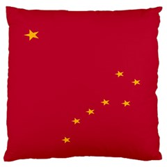 Alaska Star Red Yellow Large Flano Cushion Case (one Side)