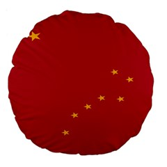 Alaska Star Red Yellow Large 18  Premium Flano Round Cushions