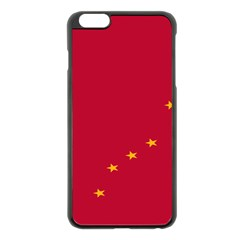 Alaska Star Red Yellow Apple iPhone 6 Plus/6S Plus Black Enamel Case