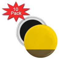 Trolley Yellow Brown Tropical 1.75  Magnets (10 pack)