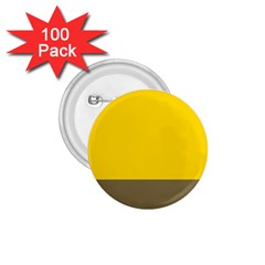 Trolley Yellow Brown Tropical 1.75  Buttons (100 pack)
