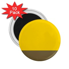 Trolley Yellow Brown Tropical 2.25  Magnets (10 pack)