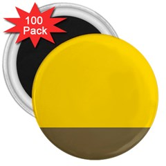 Trolley Yellow Brown Tropical 3  Magnets (100 pack)