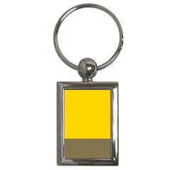 Trolley Yellow Brown Tropical Key Chains (Rectangle)