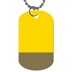 Trolley Yellow Brown Tropical Dog Tag (Two Sides)