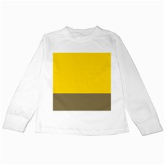Trolley Yellow Brown Tropical Kids Long Sleeve T-Shirts
