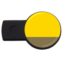 Trolley Yellow Brown Tropical USB Flash Drive Round (4 GB)