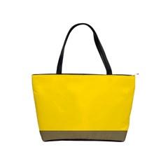 Trolley Yellow Brown Tropical Shoulder Handbags