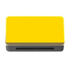 Trolley Yellow Brown Tropical Memory Card Reader with CF