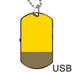 Trolley Yellow Brown Tropical Dog Tag USB Flash (Two Sides)