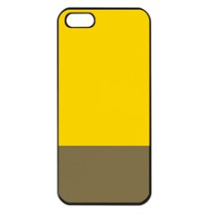 Trolley Yellow Brown Tropical Apple iPhone 5 Seamless Case (Black)
