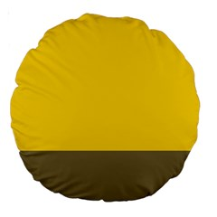 Trolley Yellow Brown Tropical Large 18  Premium Round Cushions
