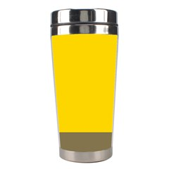 Trolley Yellow Brown Tropical Stainless Steel Travel Tumblers