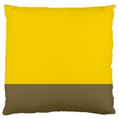 Trolley Yellow Brown Tropical Standard Flano Cushion Case (One Side)