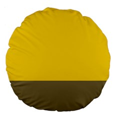 Trolley Yellow Brown Tropical Large 18  Premium Flano Round Cushions
